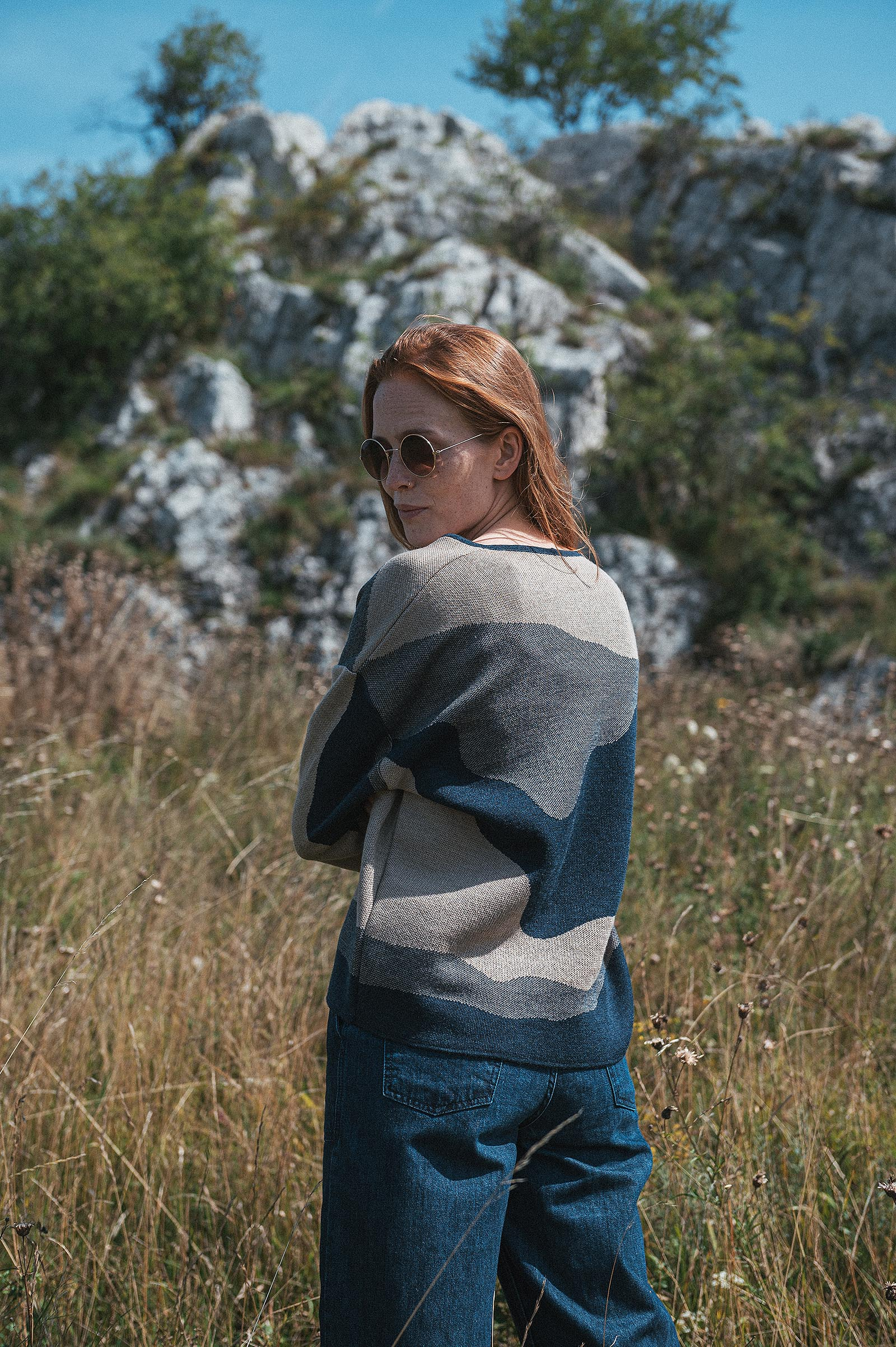 Merino kolekce Jackie night blue panorama