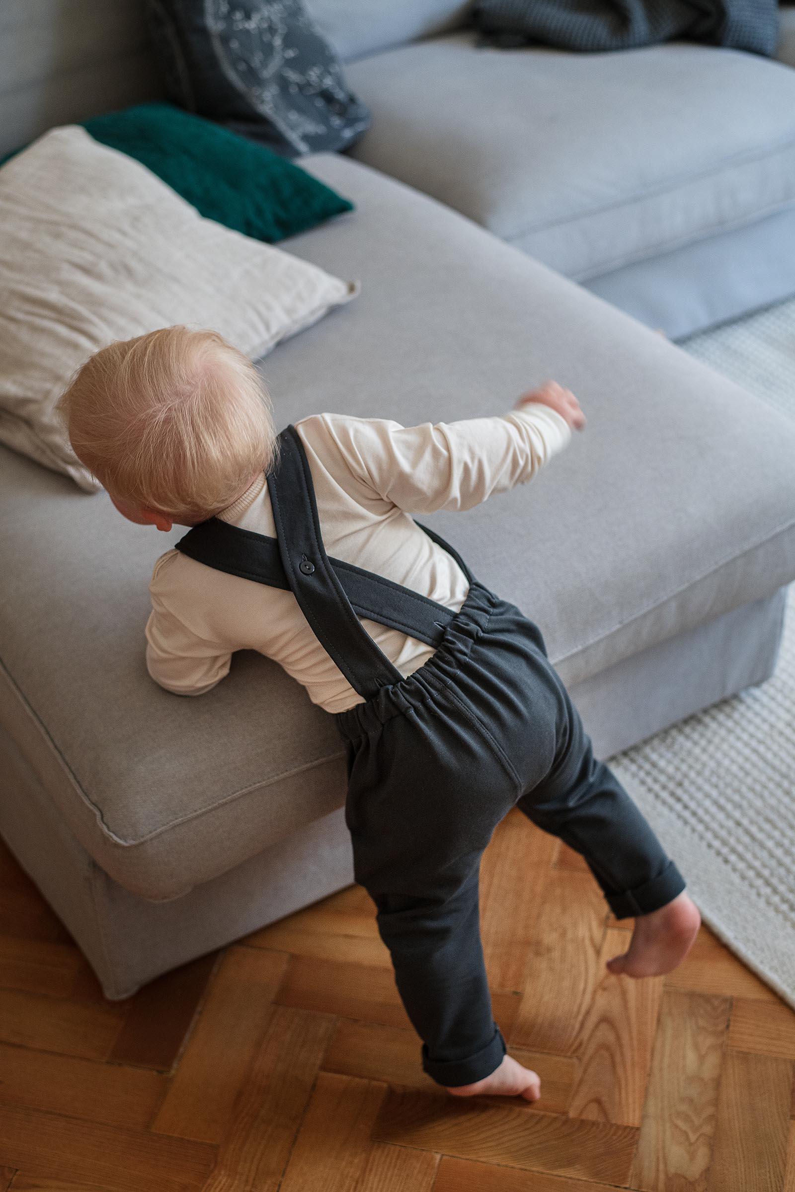 children's outfit Alf dark grey melange