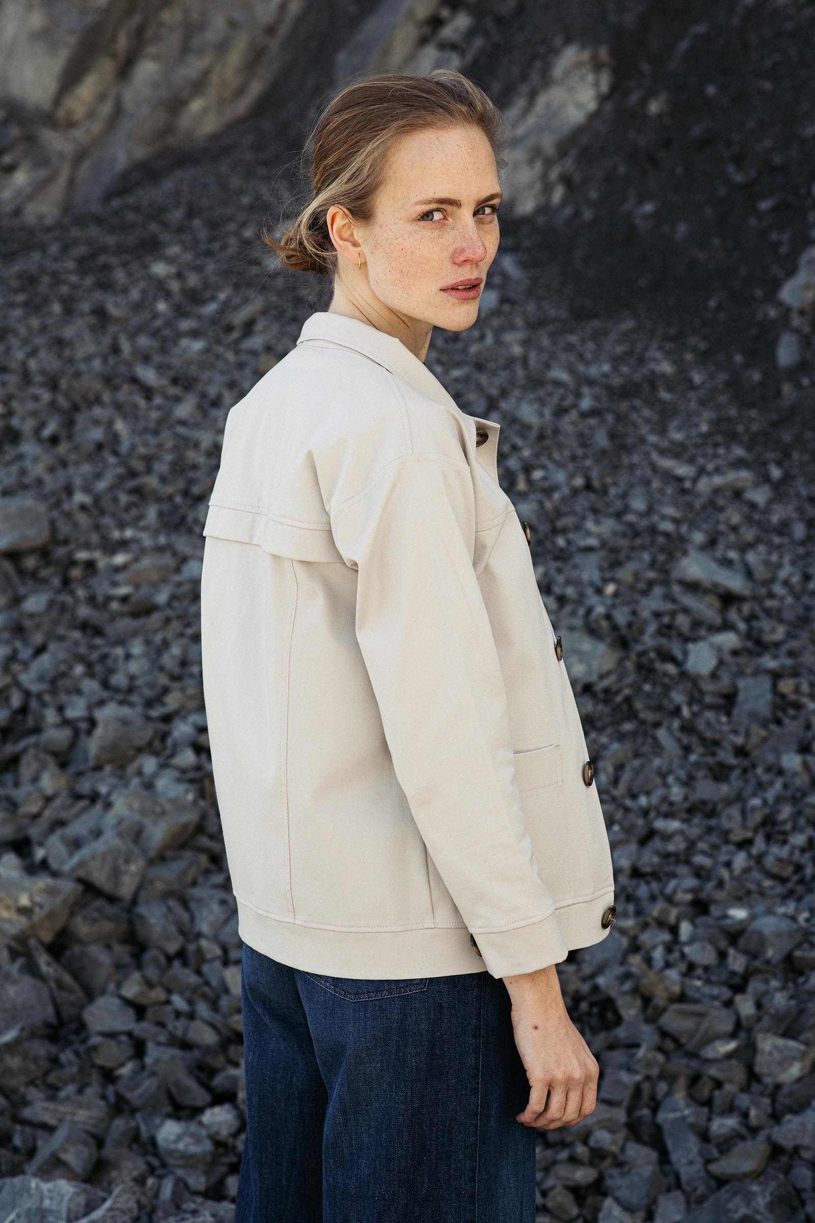 women sweatshirt and sweaters Kim beige