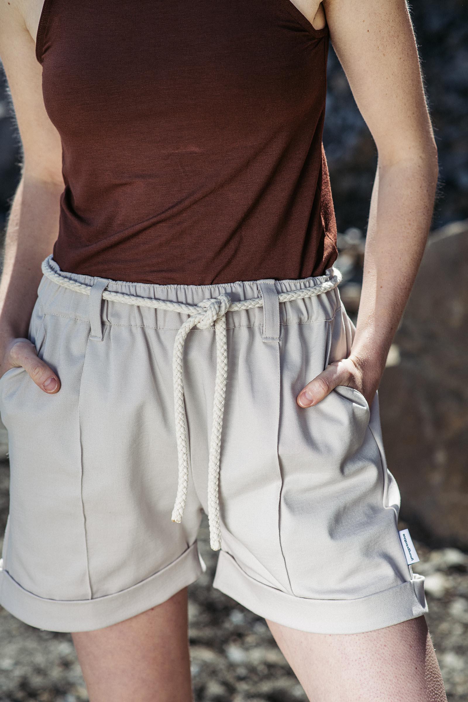 Kalhoty Eda béžová