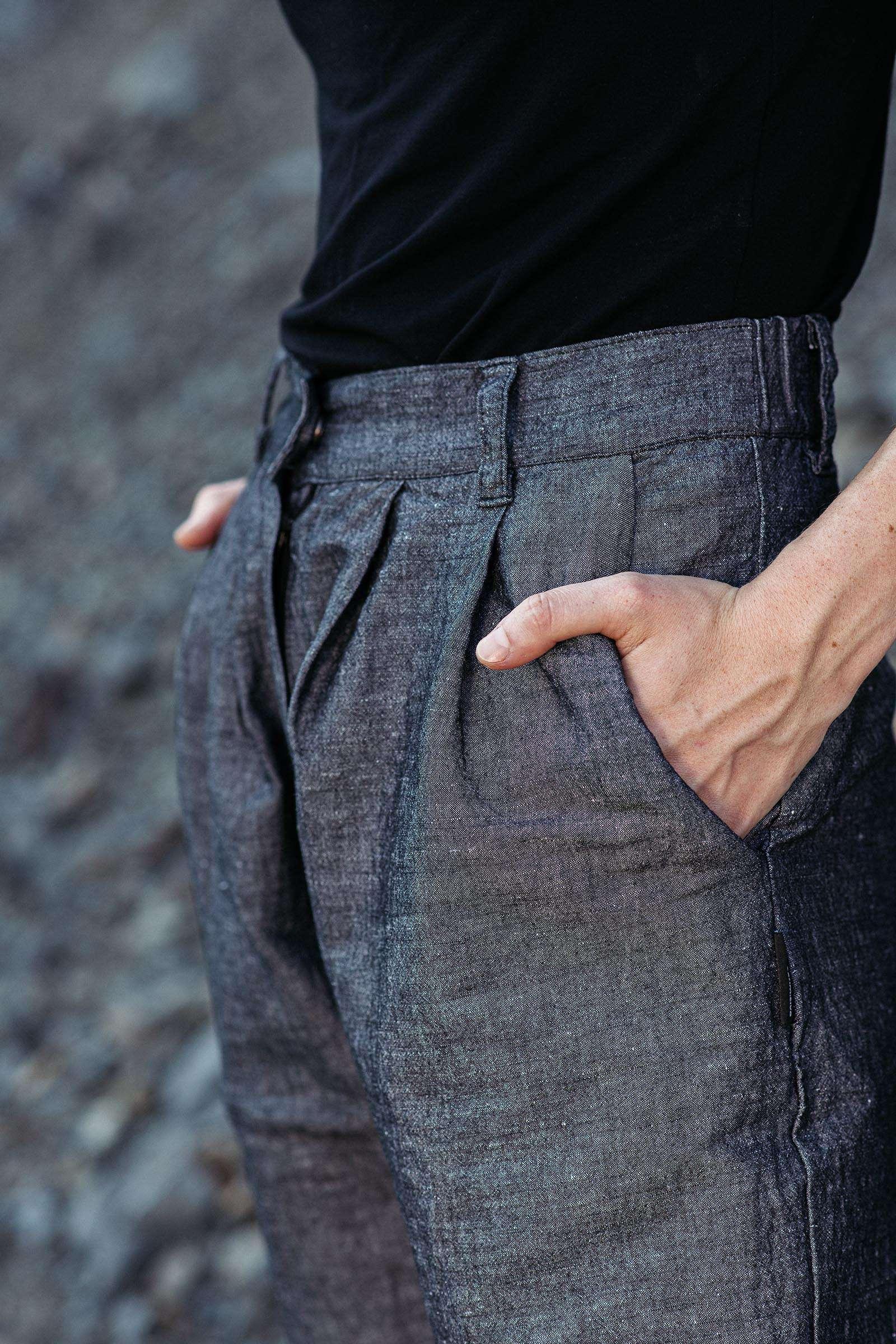 Kalhoty Hugo pepř a sůl