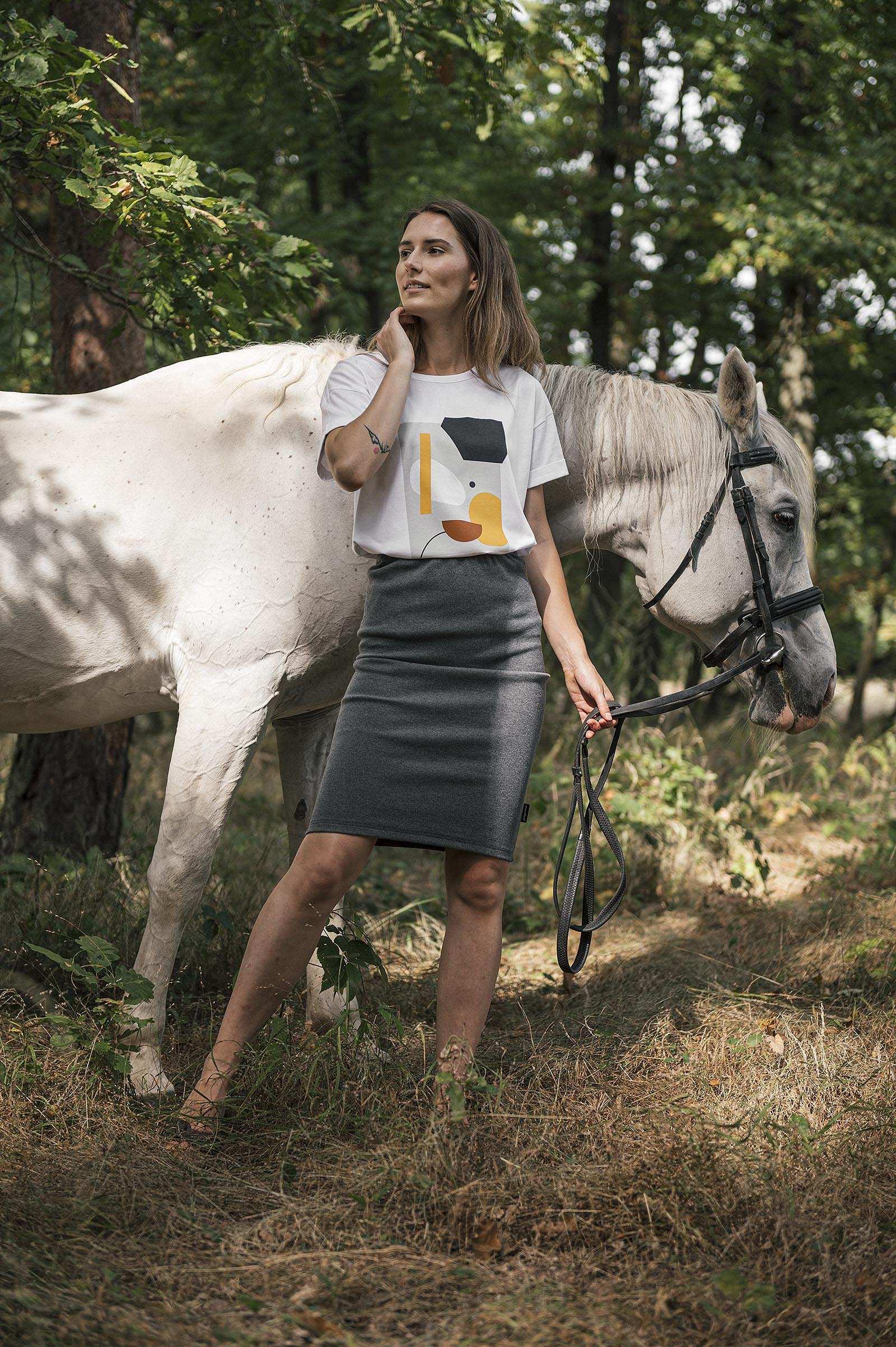 Šaty a sukně Bea Rib melange grey