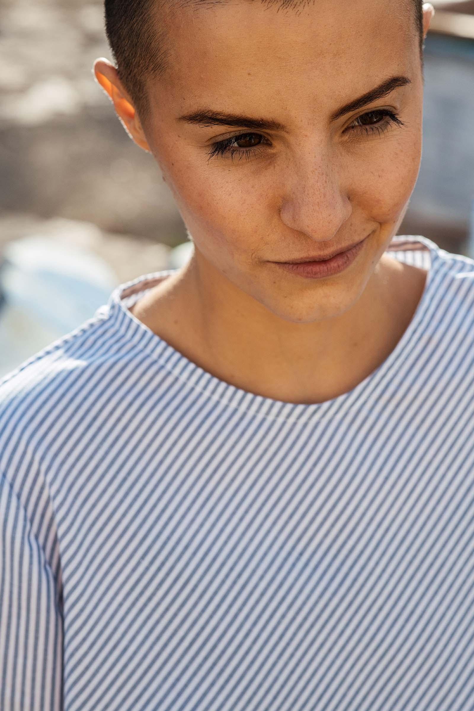Dámské trička a košile Kosmo modrý proužek