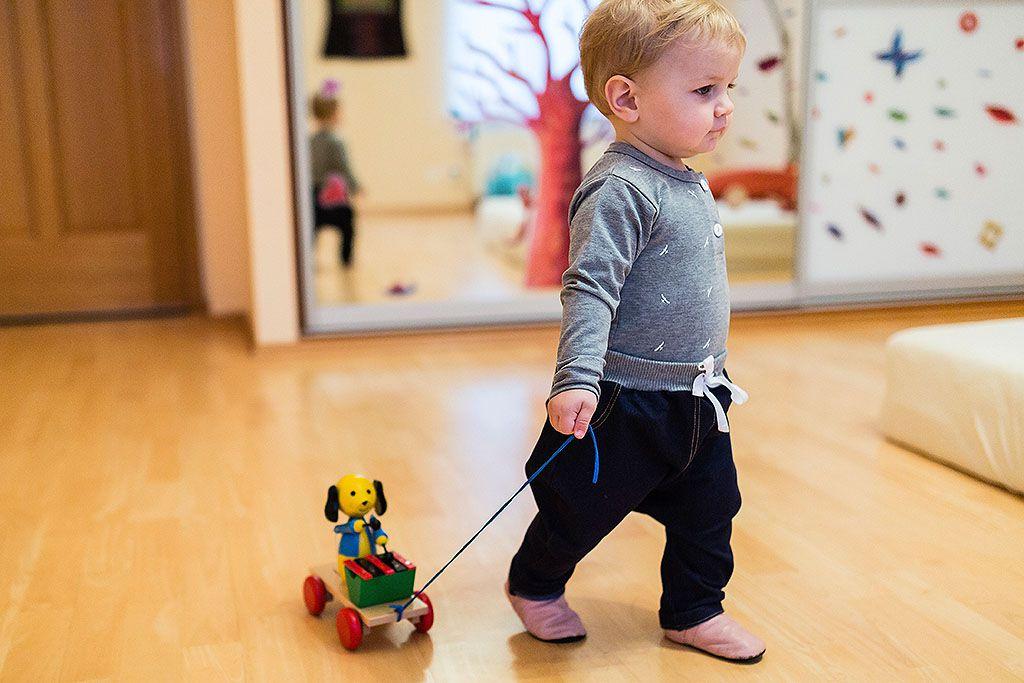 dětské oblečení Gatě Modrá