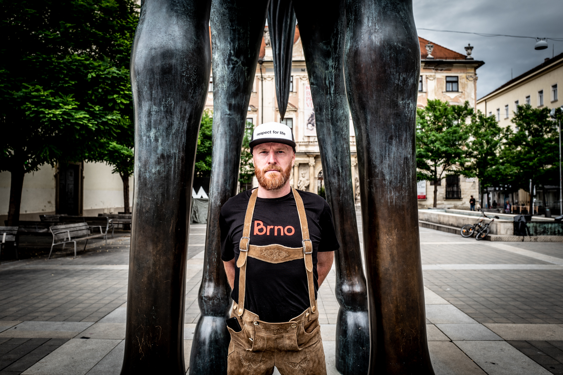 t-shirt for men P*rno as Brno black
