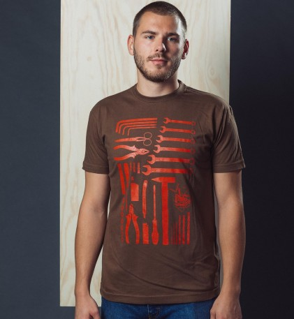 P�nsk� tri�ko Handyman brown