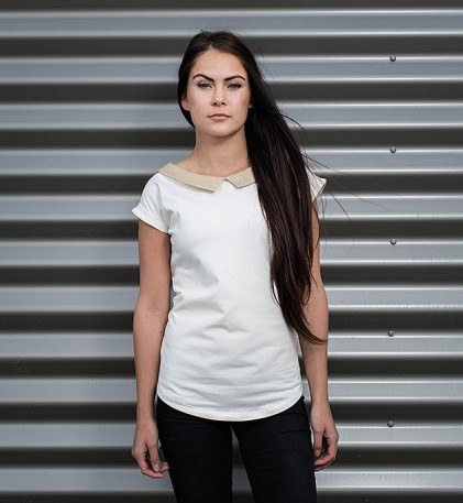 t-shirt for women Lida Cream/gold