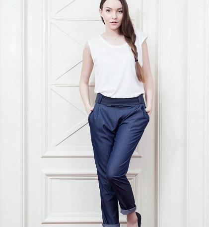 Kalhoty Dalibor modr�