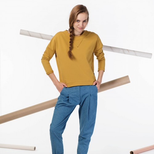 women sweatshirt and sweaters Dora mustard