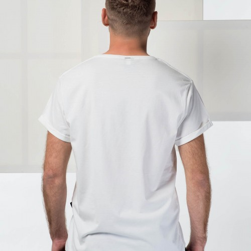 t-shirt for men Be social white