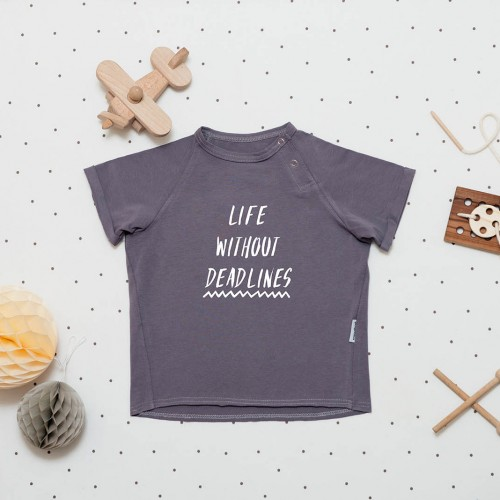 children's outfit Deadlines tee grey melange