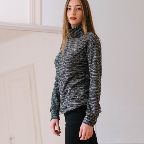 women sweatshirt and sweaters Liva black melange