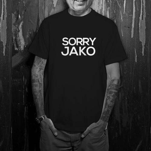 Pánské tričko SORRY JAKO černá