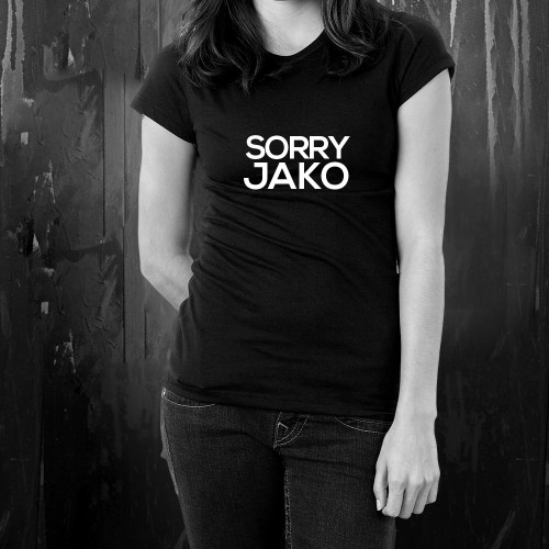 t-shirt for women SORRY JAKO black