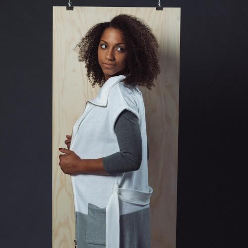 women sweatshirt and sweaters Karen white/grey