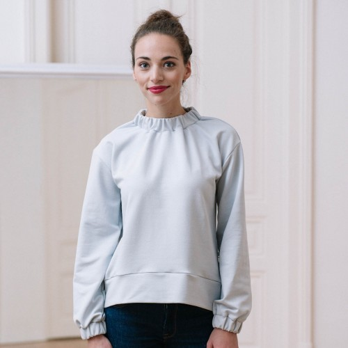 women sweatshirt and sweaters Yoko grey/white