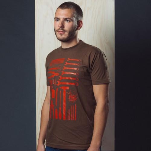 Pánské tričko Handyman brown