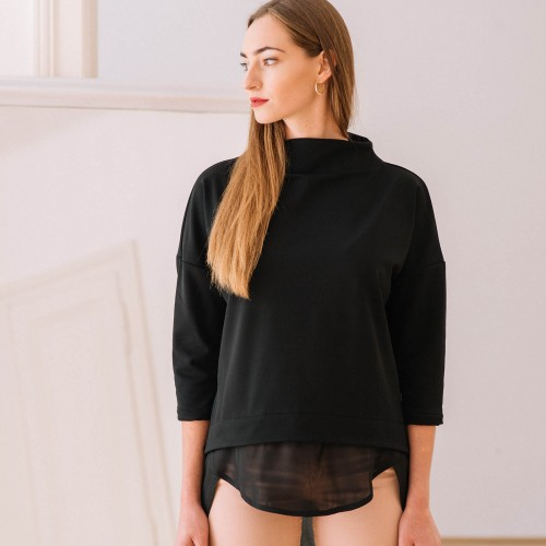 women sweatshirt and sweaters Berta black