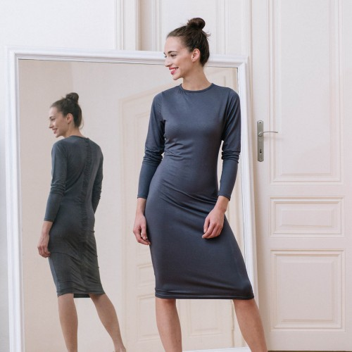 dresses and skirts Linea dark grey
