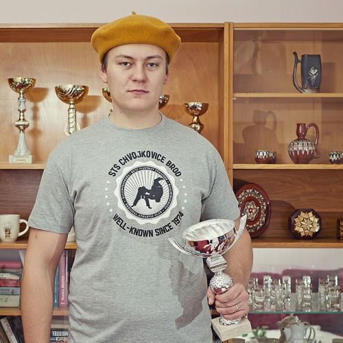 Pánské tričko Chvojkovice Šedý melír