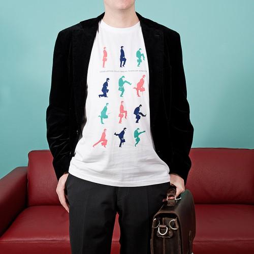 Pánské tričko Silly walk Bílá