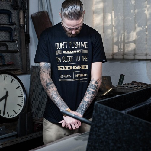 Pánské tričko Message black/gold
