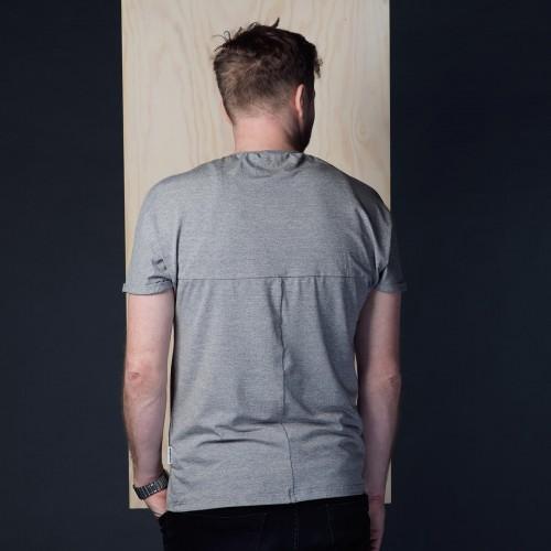 Pánské tričko Gott šedý melír