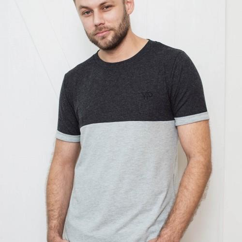 Pánské tričko Otto šedočerná