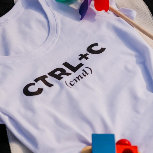 t-shirt for women ctrl+cw white