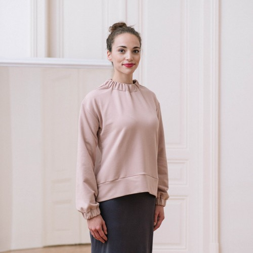 women sweatshirt and sweaters Yoko powder pink