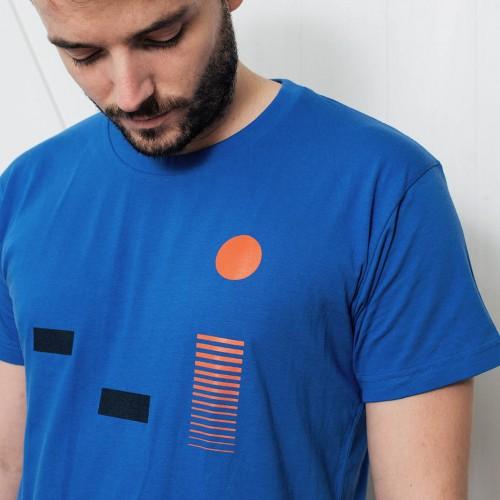 t-shirt for men Monet blue