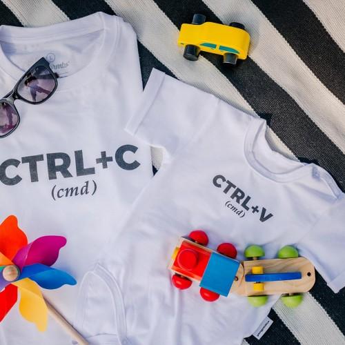 t-shirt for men ctrel+cm white