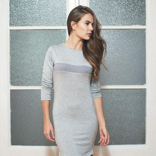 šaty a sukně Leia šedý melír