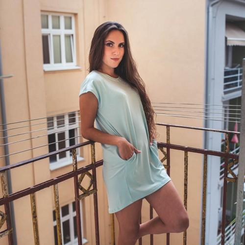 šaty a sukně Naja mintová