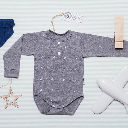 children's outfit Grid grey melange