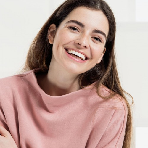 women sweatshirt and sweaters Berta powder pink