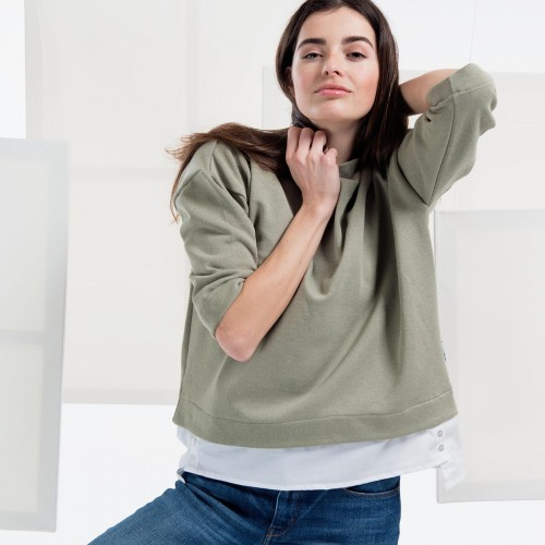 women sweatshirt and sweaters Berta olive green