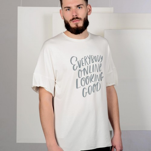 t-shirt for men Everybody online beige