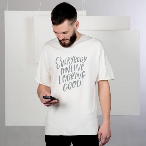 Pánské tričko Everybody online béžová