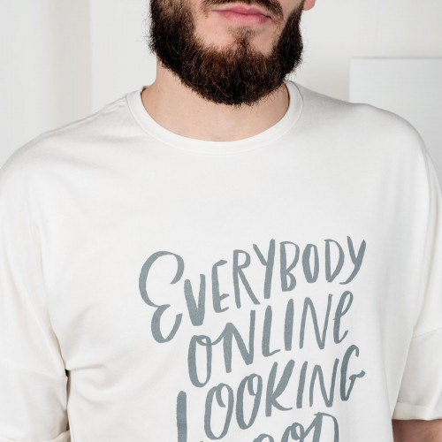 t-shirt for men Everybody online beige