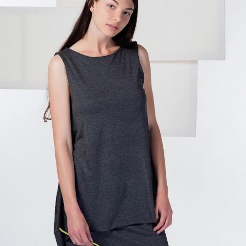 šaty a sukně Agnes tm. melír