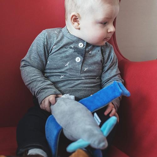 dětské oblečení Grid šedý melír