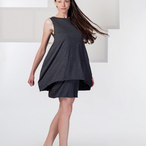 dresses and skirts Agnes grey melange