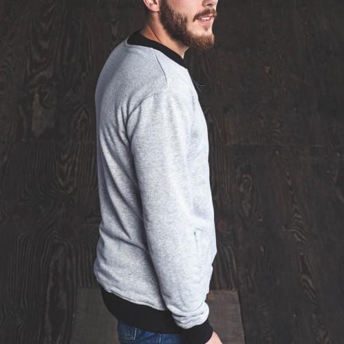 men sweatshirt Oliver grey melange