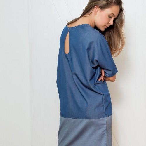 dresses and skirts Nina blue