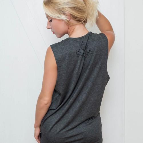 t-shirt for women Inna grey melange