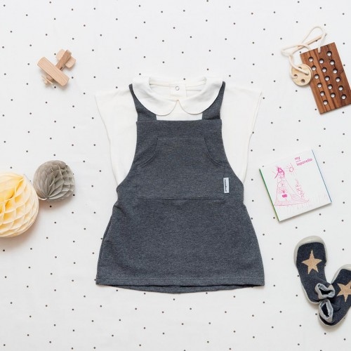 children's outfit Lota grey melange