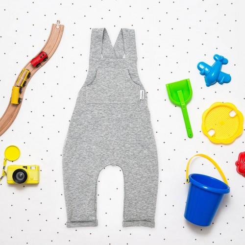 dětské oblečení Alf šedý melír