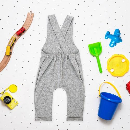 dětské oblečení Alf světle šedý melír