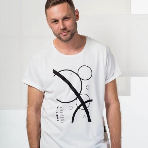 t-shirt for men Solar system white